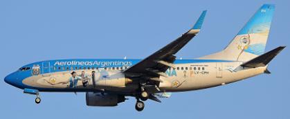 Boeing 737 de Aerolíneas Argentinas