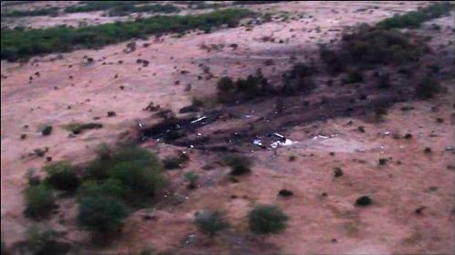 Imagen aérea del lugar del accidente