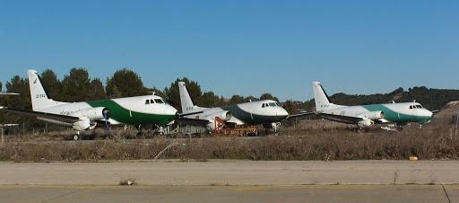 Aviones abandonados en el Aeropuerto de Madrid-Barajas