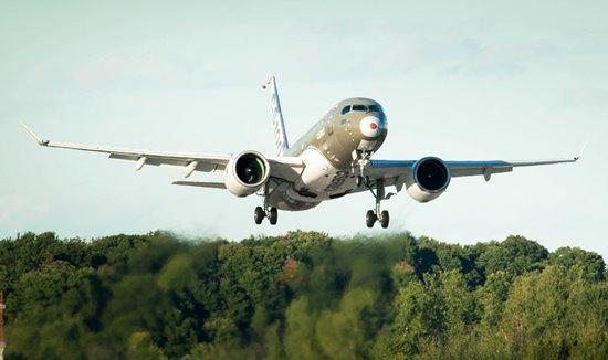 Despegue del CSeries 100 el pasado 7 de septiembre / Foto: Bombardier