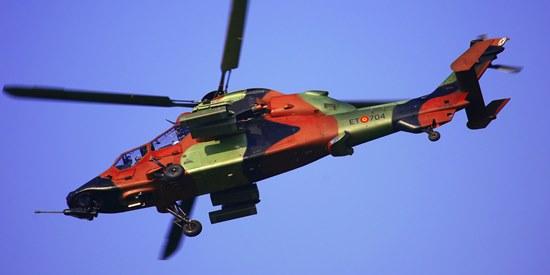 El Eurocopter EC-665 Tigre, volverá a verse en Mataró / Foto: Josep Ventura