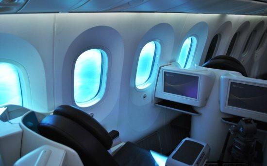Interior del 787 Dreamliner / Foto: Gustavo Lepez