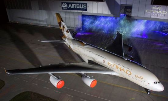 Presentación de A380 de Etihad y de la nueva librea de la compañía / Foto: Airbus