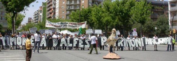 Manifesración en Lleida contra el aeródromo / Foto: Ipcena