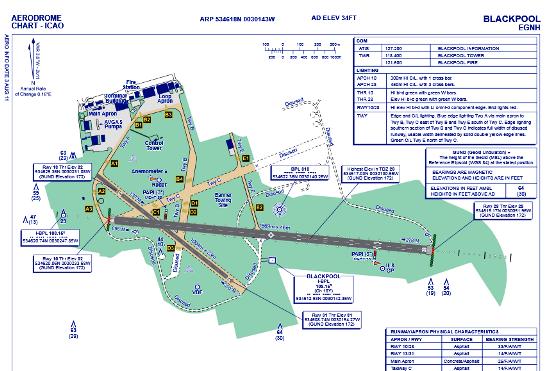 Mapa del aeropuerto de Blackpool