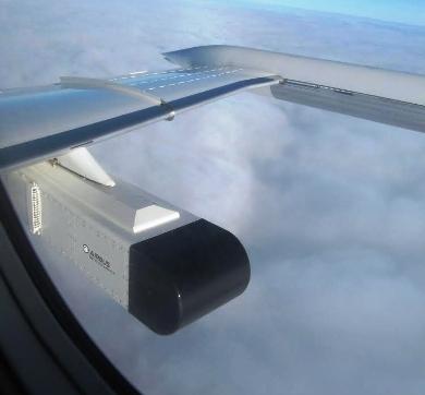El sistema de interferencias, destinado a la formación, puede integrarse fácilmente en una góndola a bordo de distintas plataformas. Foto: Airbus Defence and Space.