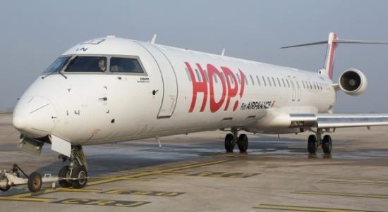 Avión Embraer de HOP!, filial del Grupo Air France