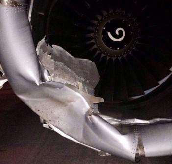 El carenado del motor resultó dañado