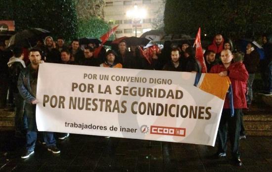 Imagen de la concentración / Foto:  Angel León - @aleonindustria