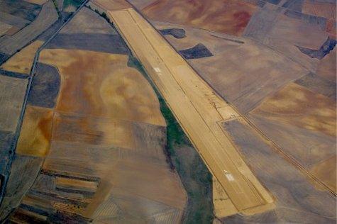 Imagen aérea del campo de vuelo
