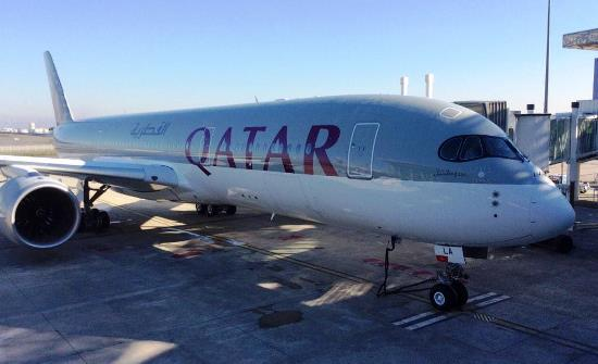 El A350-900 de Qatar Airways, hoy en el aeropuerto de Toulouse-Blagnac / Airbus