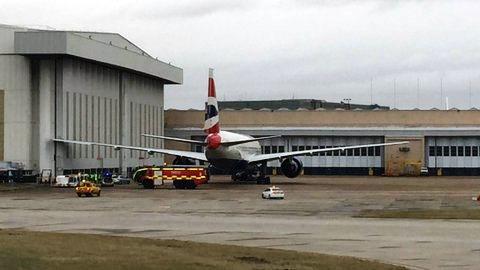 Imagen del avión tras el incidente