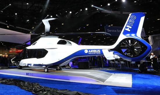 Presentación del H160 en la feria Heli Expo