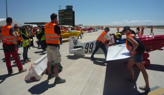 Preparativos de la carrera que se realizó en Lleida en 2014