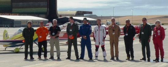 Pilotos y jueces de la carrera celebrada en Lleida en 2014