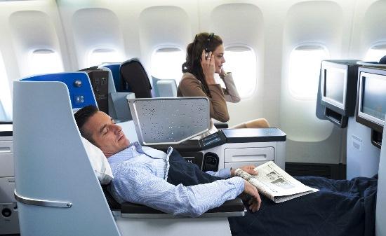 Asientos cama de clase Business
