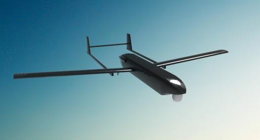 Dibujo del proyecto de UAV/RPAS Tarsis / Aertec Solutions