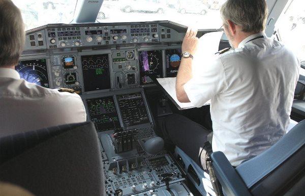 Tripulación de un A380 de Lufthansa