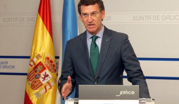 Alberto Núñez Feijóo, presidente de ña Xunta de Galicia