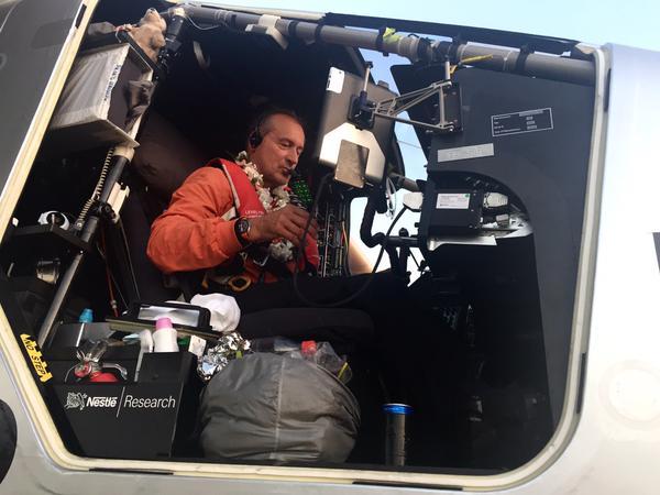 André Borchberg, al llegar a Hawai / Solar Impulse