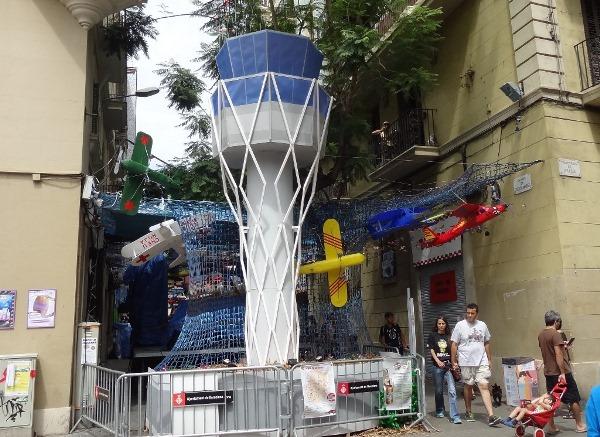 Torre de control, réplica de la del Aeropuerto de Barcelona /