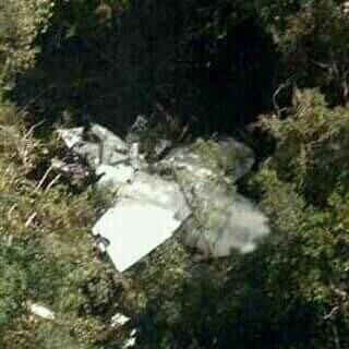 Foto de los restos del avión