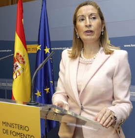 La ministra Ana Pastor