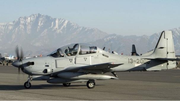 Uno de los Super Tucano, en Afganistán / USAF