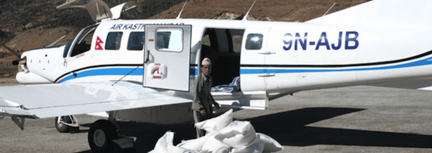 En avión siniestrado. Foto extraida de la web de Air Kasthamandap
