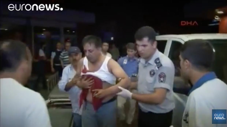 Uno de los heeridos en el atentado / Captura pantalla de vídeo