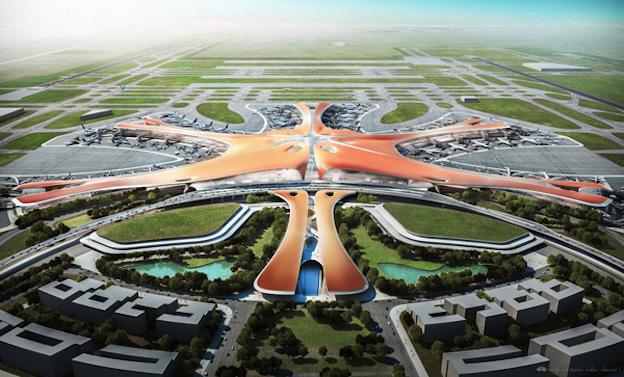Imagen artística del futuro aeropuerto publicada en 'Pueblo en Línea'