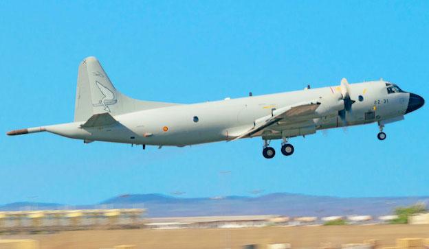 P-3 Orión despegando de Yibuti para realizar una misión de la Operación Atalanta / Ejército del Aire
