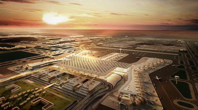 Imagen virtual del Aeropuerto de Estambul, en fase de construcción